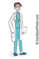 Friendly Doctor - Vector Illustration