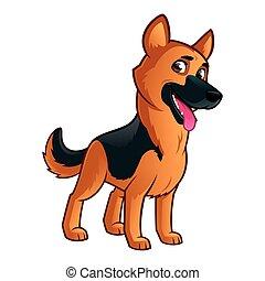 German Shepherd - Friendly dog of the German Shepherd breed