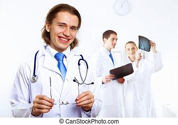 friendly doktor, ind, medicinsk kontor