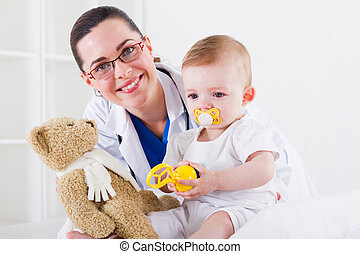 pediatrician and baby