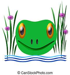 friendly frog illustration