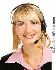 Friendly hotline operator