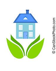Friendly house - environmental friendly house - symbolic ...
