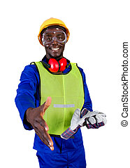 african construction worker