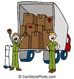 Friendly Moving Company - An image of a moving men and truck...