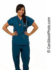 Friendly nurse