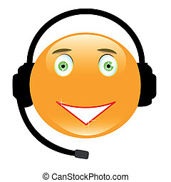 Friendly Operator - Adorable smiley wearing a headset...
