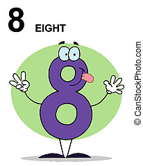 Friendly Purple Number 8