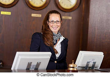 Friendly receptionist - Friendly beautiful stylish young...