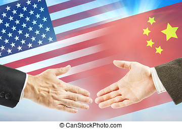 Friendly relations between United States and China....