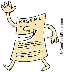 Friendly Resume - A friendly cartoon resume.