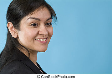 Friendly Smile - A lovely young woman with a friendly smile...