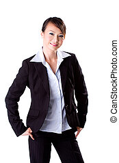 Friendly Smile - business woman with a big friendly smile