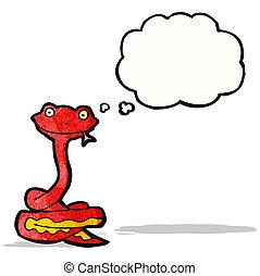 friendly snake cartoon