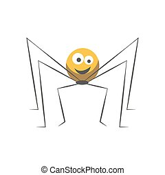 Friendly spider with round body and long thin legs
