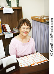 Friendly Store Clerk or Secretary