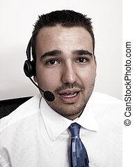 Friendly telephone operator