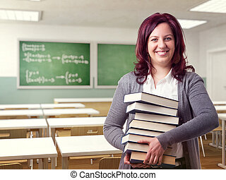 friendly woman teacher