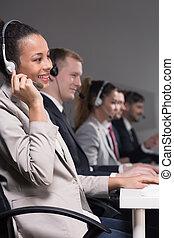 Friendly work enviroment in call center