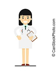 Friendly young pharmacist in medical uniform