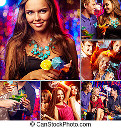 Friends at party - Image of happy friends spending time in...