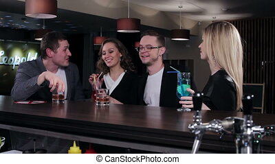 Friends at the bar