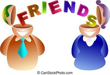 friends brain
