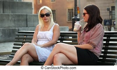 Friends chatting