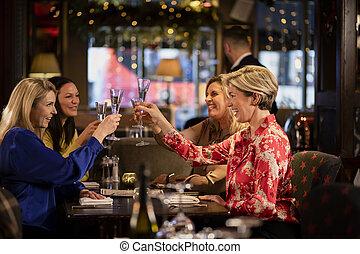 Friends Enjoying a Drink