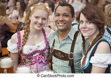 Friends enjoying Oktoberfest