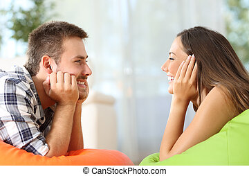 Friends falling in love at home