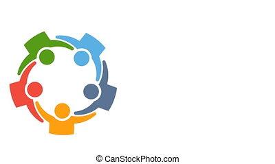 Friends Friendship Group Hug Relationship Logo Animation -...