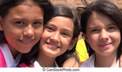 Friends Girls Smiling
