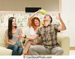 friends having fun
