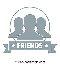Friends logo, simple gray style