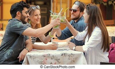 Friends Meet at Cafe