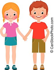 Friends of boy and girl