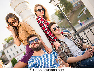 Friends outdoors