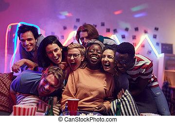 friends, party, glücklich