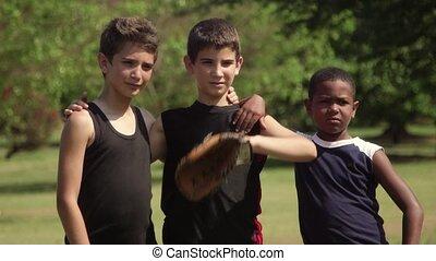 Friends portrait, baseball team