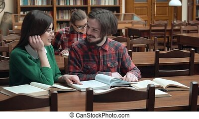 Friends Read in Library