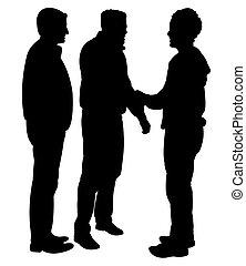 friends silhouette