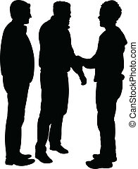 friends silhouette - vector