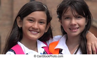 Friends Smiling Girls
