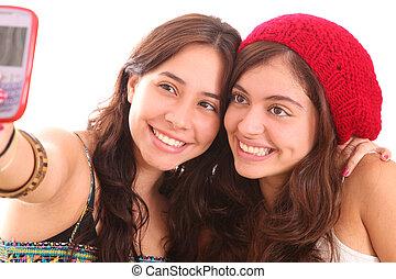 Friends take a picture
