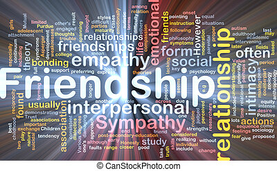 Friendship background concept glowing - Background concept...