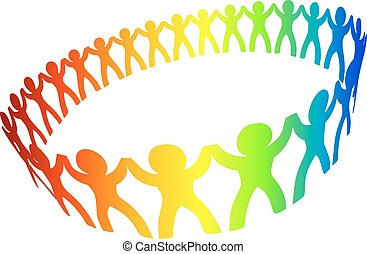 Friendship circle - Circle of peoples for friendship or ...