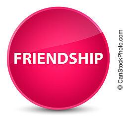 Friendship elegant pink round button