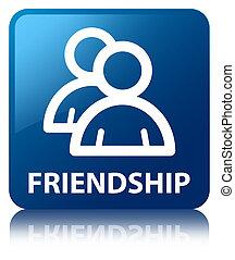 Friendship (group icon) blue square button