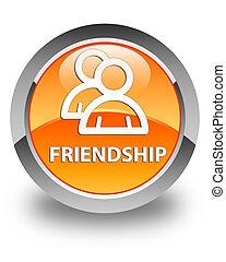 Friendship (group icon) glossy orange round button
